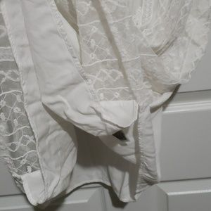 Old Navy Tops - Old navy white lace front tank